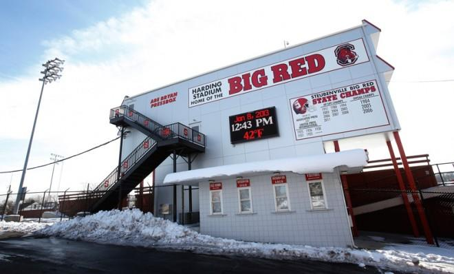 Harding Stadium, home of the Steubenville High Big Red football team in Steubenville, Ohio.