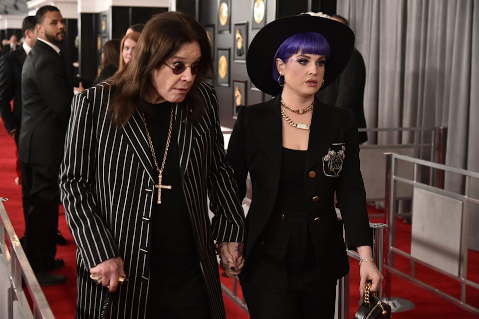 LOS ANGELES, CA - JANUARY 26: Ozzy Osbourne and Kelly Osbourne attend the 62nd Annual Grammy Awards at Staples Center on January 26, 2020 in Los Angeles, CA. (Photo by David Crotty/Patrick McMullan via Getty Images)