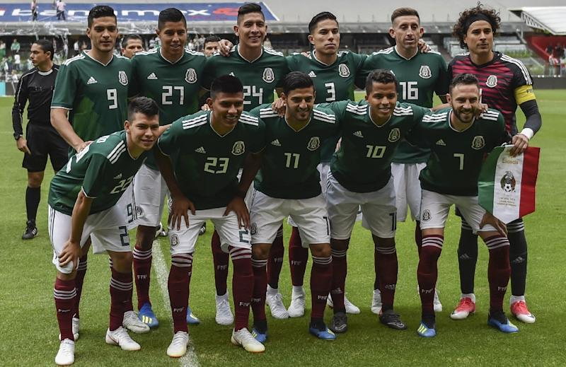 Mexicos National Team Football Players Pose For A Photo Ahead Of Their