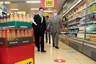 """<p>The Prince took an interest in the company's environmental values and sustainability practices. Iceland Foods has set out to <a href=""""https://about.iceland.co.uk/plastic-free-by-2023/"""" rel=""""nofollow noopener"""" target=""""_blank"""" data-ylk=""""slk:eliminate"""" class=""""link rapid-noclick-resp"""">eliminate</a> plastic packaging from their store branded products by 2023. </p>"""