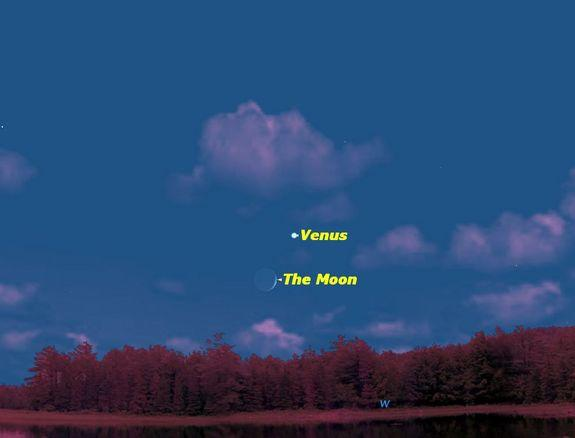See Venus and Moon Shine Together in Night Sky Friday
