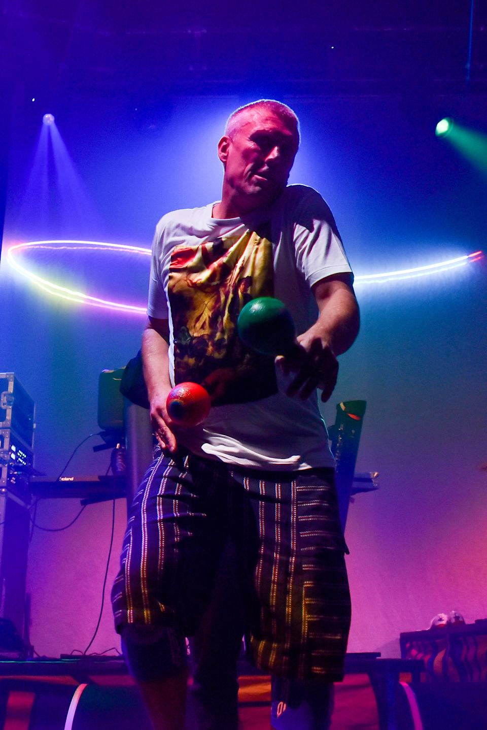 British rock band Happy Mondays perform live at Roundhouse, on October 31, 2019 in London, England.  (Photo by Alberto Pezzali/NurPhoto via Getty Images)
