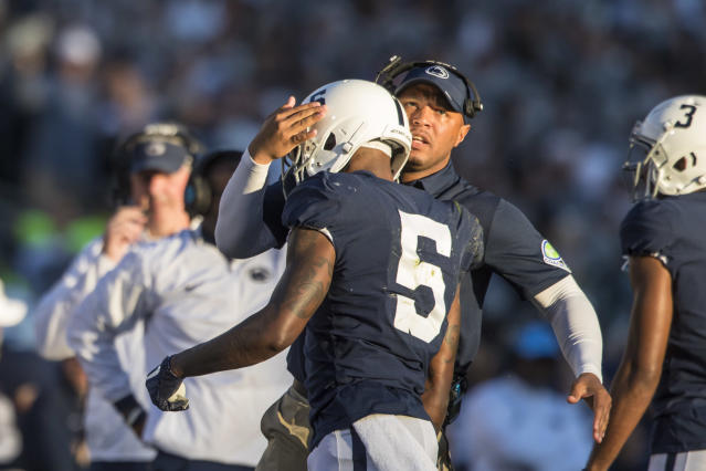 Josh Gattis spent four seasons at Penn State before he was at Alabama in 2018. (Getty)