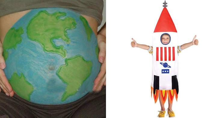 Get crafty with your baby bump and turn yourself into Mother Earth.