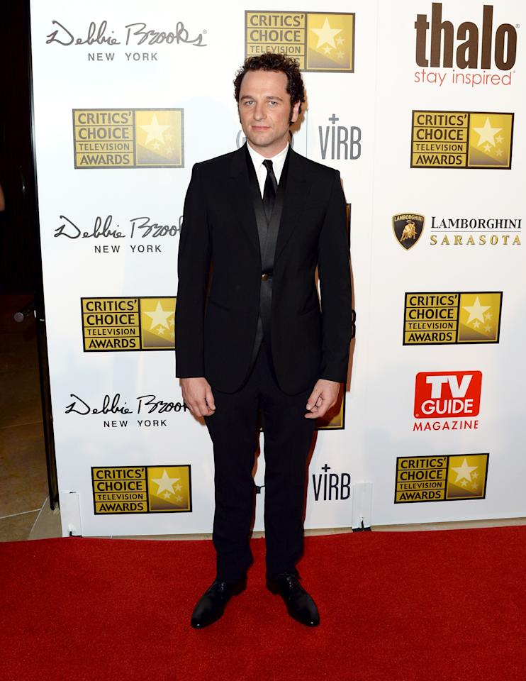 LOS ANGELES, CA - JUNE 10: Actor Matthew Rhys arrives at Broadcast Television Journalists Association's third annual Critics' Choice Television Awards at The Beverly Hilton Hotel on June 10, 2013 in Beverly Hills, California. (Photo by Jason Merritt/Getty Images)
