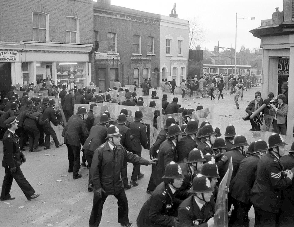 A riot in Brixton on April 12, 1981 (Photo: ASSOCIATED PRESS)