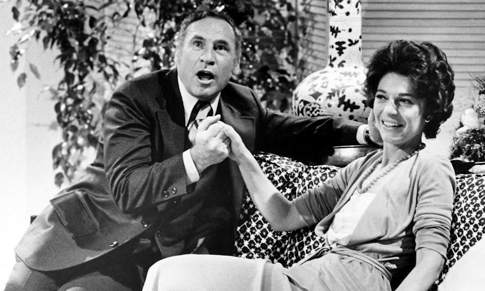 Brooks and Anne Bancroft on screen in 1974.