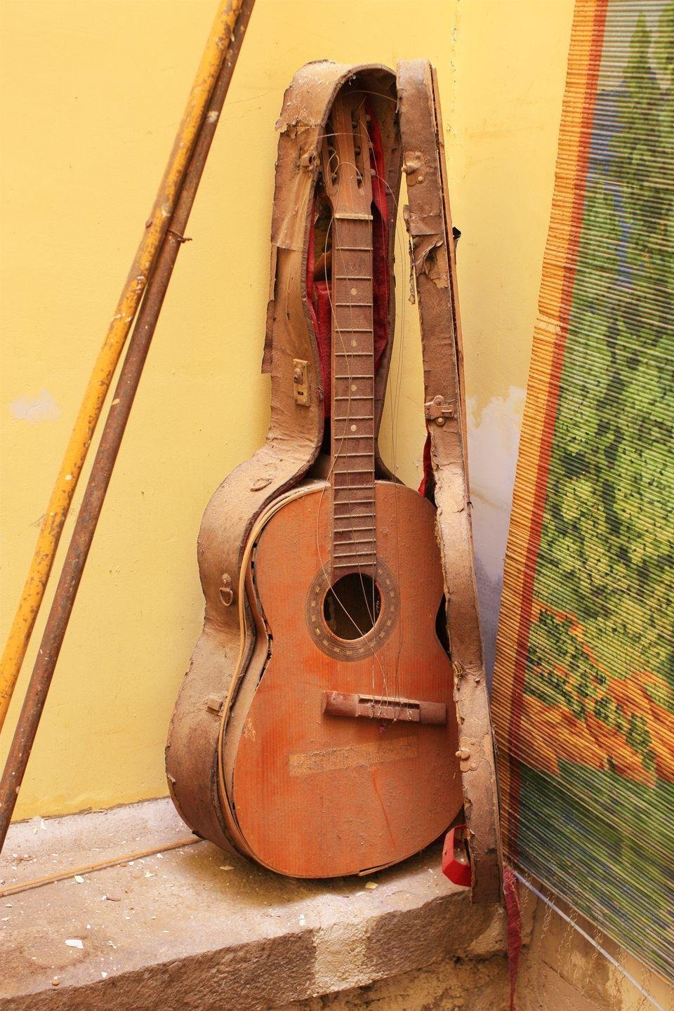 "<p>You probably wouldn't throw away a beautifully made musical instrument, but if you don't want it sitting in your basement—and the damp hasn't gotten to it—you might be able to sell it. If it's a <a href=""https://www.cnbc.com/2010/10/15/Ten-Most-Valuable-Musical-Instruments.html"" rel=""nofollow noopener"" target=""_blank"" data-ylk=""slk:Stradivari violin or a Fender Stratocaster guitar"" class=""link rapid-noclick-resp"">Stradivari violin or a Fender Stratocaster guitar</a>, it could be worth hundreds of thousands or even millions.</p>"