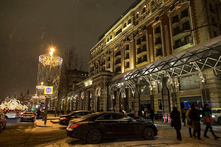 Many western hotel chains have been operating in Moscow for years, including the Ritz-Carlton, seen above. (AP Photo/Alexander Zemlianichenko)