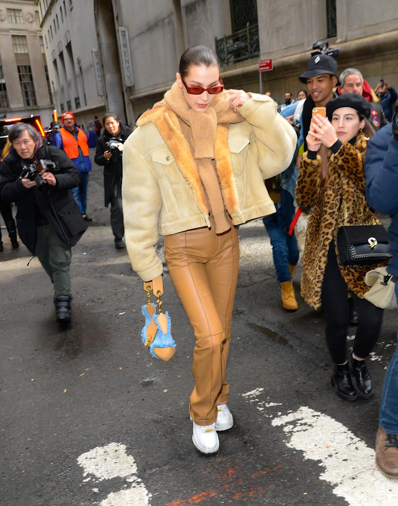 As The Denim Craze Continues Bella Hadid Takes The Movement