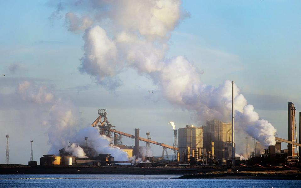 Emissions from a Corus steel plant at Redcar on Teeside, UK. - Getty Images