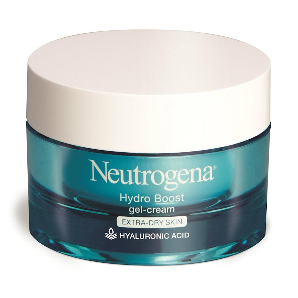"""<p>With over 1,400 Amazon reviews, it's no secret that <a href=""""https://www.allure.com/review/neutrogena-hydro-boost-water-gel-review?mbid=synd_yahoo_rss"""" rel=""""nofollow noopener"""" target=""""_blank"""" data-ylk=""""slk:Neutrogena's Hydro Boost"""" class=""""link rapid-noclick-resp"""">Neutrogena's Hydro Boost</a> Gel-Cream is a drugstore diamond. """"If you have dry skin, look for hyaluronic acid as your hero ingredient,"""" Joshua Zeichner, the director of cosmetic and clinical research at Mount Sinai Hospital in New York City, tells <em>Allure</em>. """"[It acts] like a sponge that binds to 1,000 times its weight in water to hydrate the outer skin layer.""""</p> <p><strong>$15</strong> (<a href=""""https://amzn.to/2DWFIBn"""" rel=""""nofollow noopener"""" target=""""_blank"""" data-ylk=""""slk:Shop Now"""" class=""""link rapid-noclick-resp"""">Shop Now</a>)</p>"""