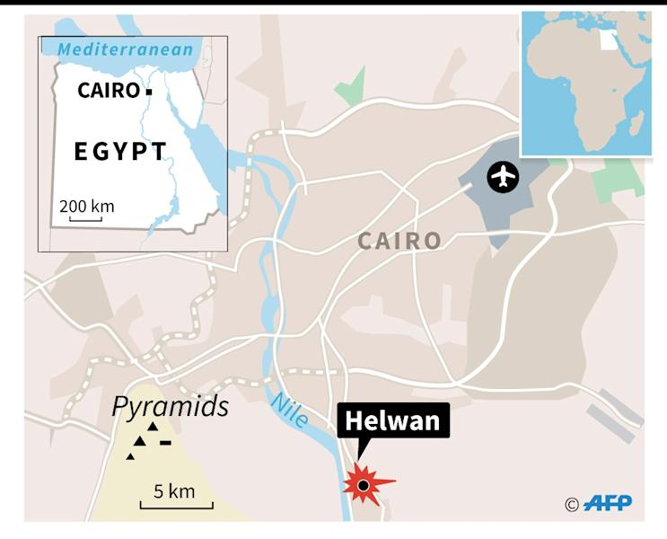 Eight policemen were shot dead in the district of Helwan, just south of Cairo (AFP Photo/)