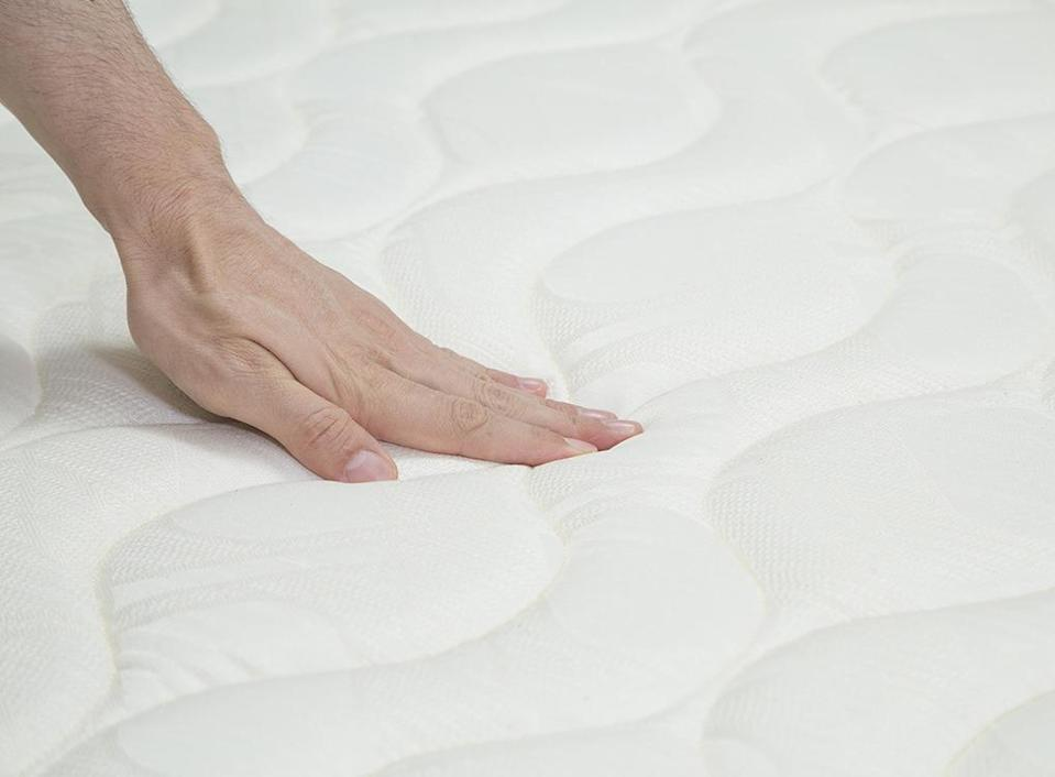 You wash your sheets regularly, but when's the last time you cleaned your mattress? To keep this expensive investment piece in tip-top shape, sprinkle some baking soda on it, let it sit for an hour, and vacuum it up—any lingering scents or debris will be sucked up right along with it.