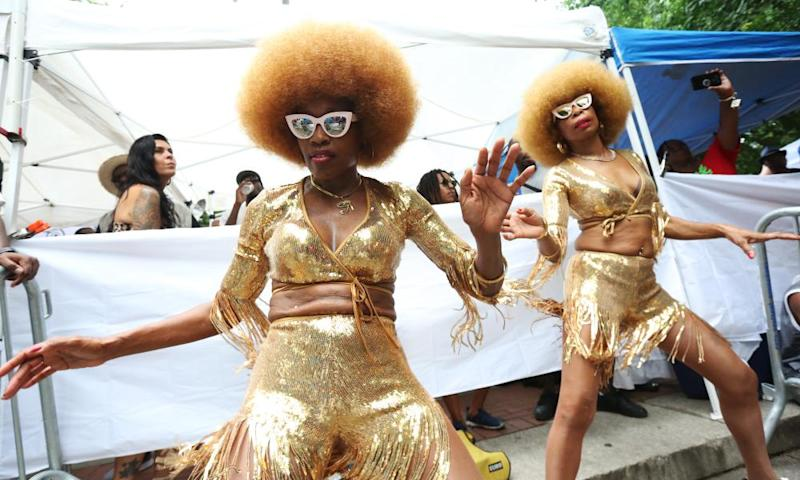 The Camella Dancers of Queens at the Soul Summit at Fort Greene Park in 2019