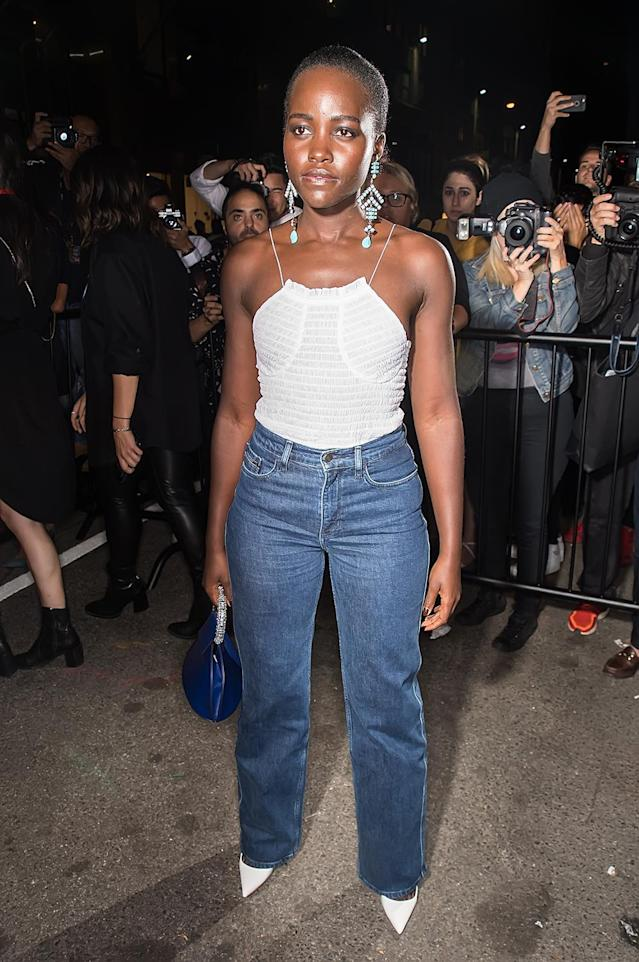 <p>Lupita Nyong'o arrives at Calvin Klein Collection fashion show during New York Fashion Week on September 7, 2017. (Photo by Gilbert Carrasquillo/GC Images) </p>