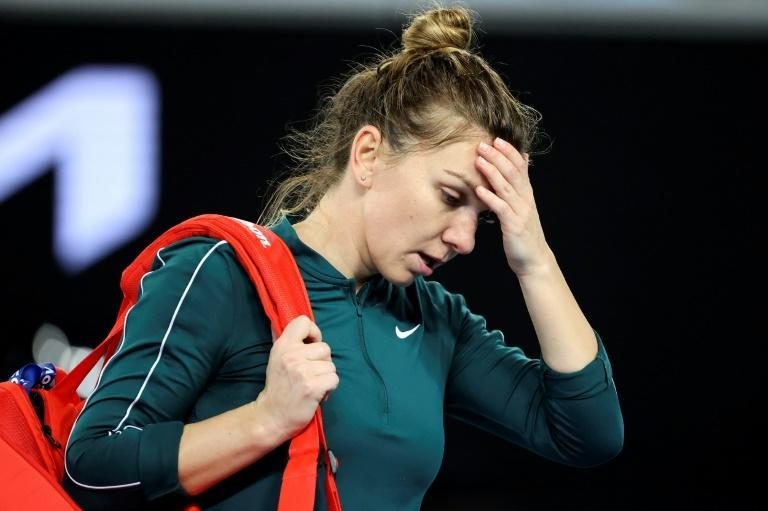 World number two Simona Halep was hampered by injury in her Gippsland Trophy defeat