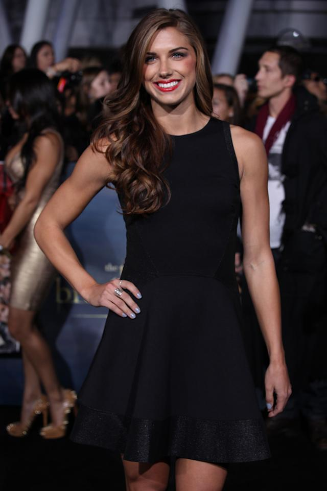 "Alex Morgan arrives at ""The Twilight Saga: Breaking Dawn - Part 2"" Los Angeles premiere at the Nokia Theatre L.A. Live on November 12, 2012 in Los Angeles, California."