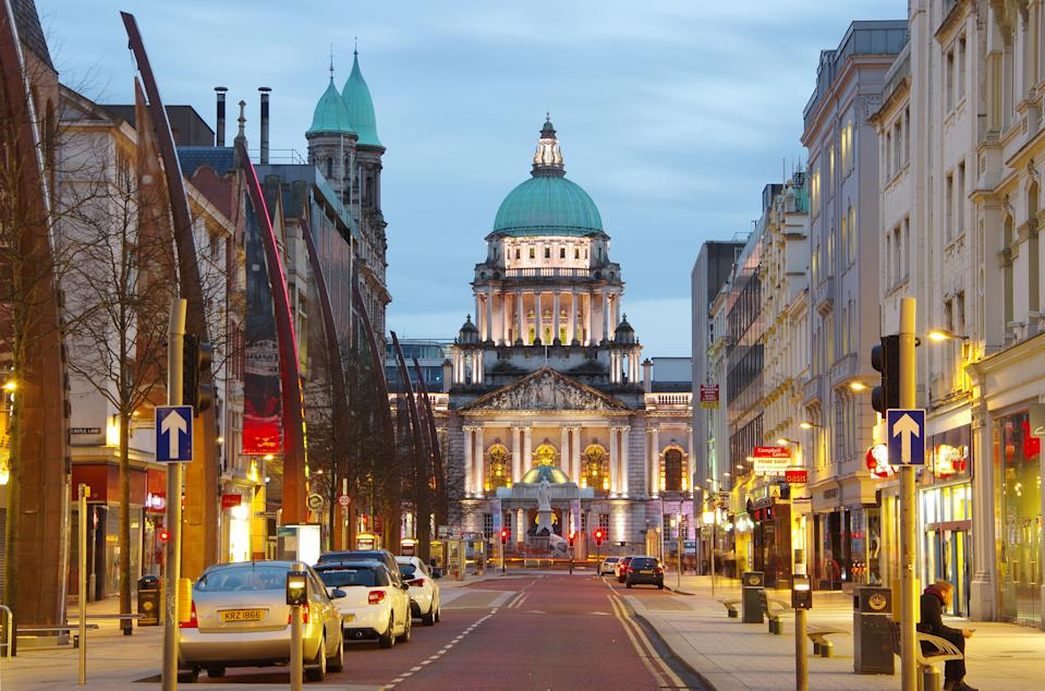 City Hall in Donegall Square in Belfast, Northern Ireland. Photo: Getty