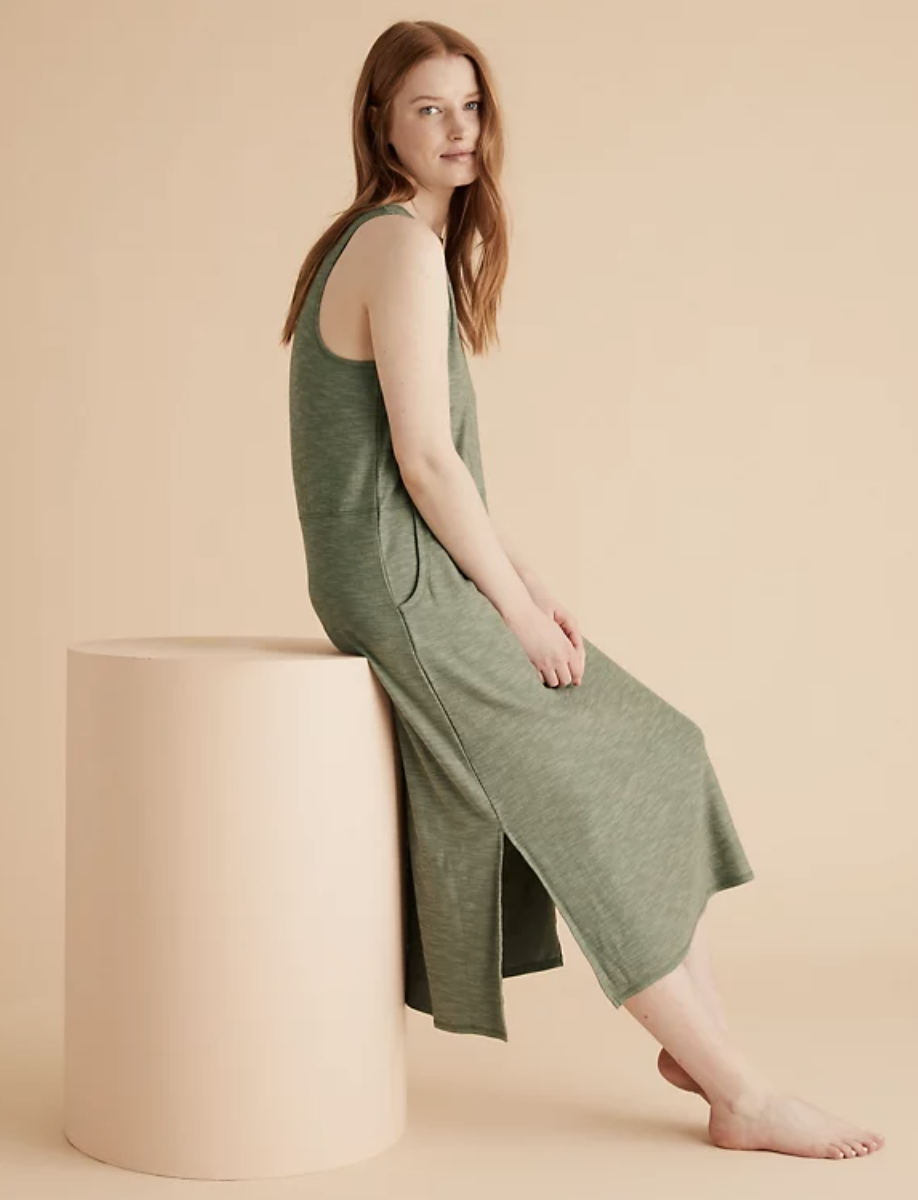The lounge dress comes in three colours and has practical pockets. (Marks & Spencer)