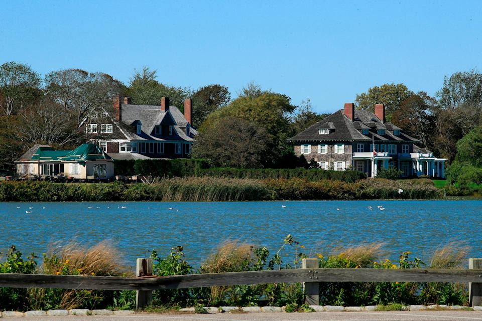 A wealthy couple in the Hamptons is being sued for allegedly refusing to leave the house they'd been renting (not pictured) (AFP via Getty Images)