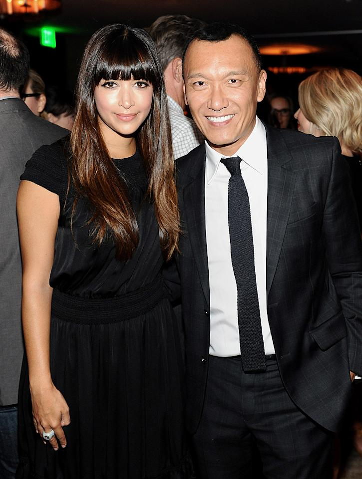 """The man of the hour, Joe Zee, mingled with guests including """"New Girl"""" actress Hannah Simone. Zee, who previously starred in MTV's """"The City,"""" started the evening in a pretty fabulous mood. """"Getting ready for #AllOnTheLine premiere party now & jammin' to @CarlyRaeJepsen's sick new album on high,"""" he wrote on Twitter. """"I feel like I'm going to my prom."""" (9/19/2012)"""