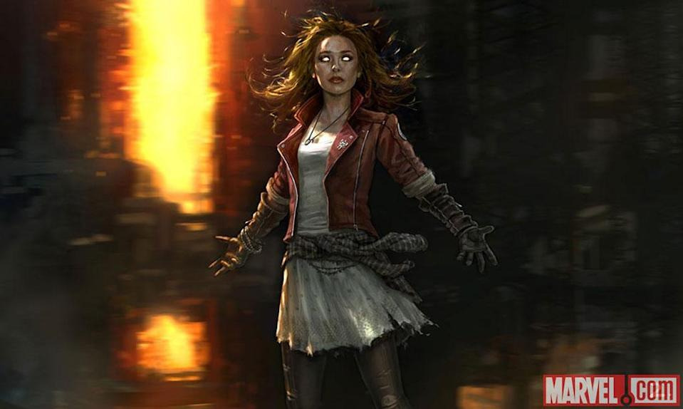 Scarlet Witch concept art for 'The Avengers: Age of Ultron' (Marvel)