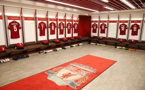 anfield changing room - Credit: UEFA