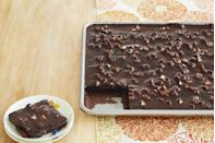 """<p>This has been the go-to Drummond birthday cake for years. If you've tried it, you'll know why. It's practically sinful.<br></p><p><a class=""""link rapid-noclick-resp"""" href=""""https://www.thepioneerwoman.com/food-cooking/recipes/a11901/best-chocolate-sheet-cake-recipe/"""" rel=""""nofollow noopener"""" target=""""_blank"""" data-ylk=""""slk:Get the Recipe!"""">Get the Recipe!</a></p>"""