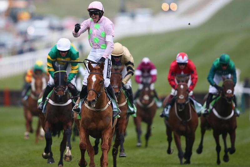 Ruby Walsh wins the 2016 Stan James Champion Hurdle aboard Annie Power