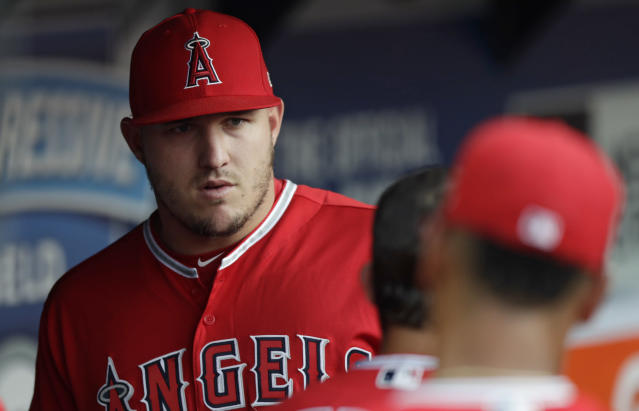 "<a class=""link rapid-noclick-resp"" href=""/mlb/players/8861/"" data-ylk=""slk:Mike Trout"">Mike Trout</a>, his wife Jessica, and both of their families are mourning the death of former <a class=""link rapid-noclick-resp"" href=""/mlb/teams/laa"" data-ylk=""slk:Los Angeles Angels"">Los Angeles Angels</a> minor league pitcher Aaron Cox, who was Jessica's brother. (AP Photo/Tony Dejak)"