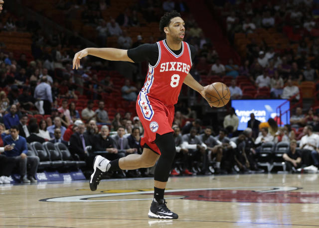 "<a class=""link rapid-noclick-resp"" href=""/nba/players/5434/"" data-ylk=""slk:Jahlil Okafor"">Jahlil Okafor</a> is an awkward fit in Philadelphia. (AP)"