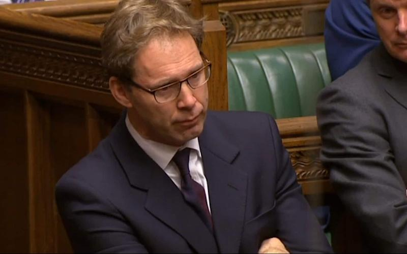 Conservative MP Tobias Ellwood looks on as Prime Minister Theresa May speaks to MPs - Credit: PA