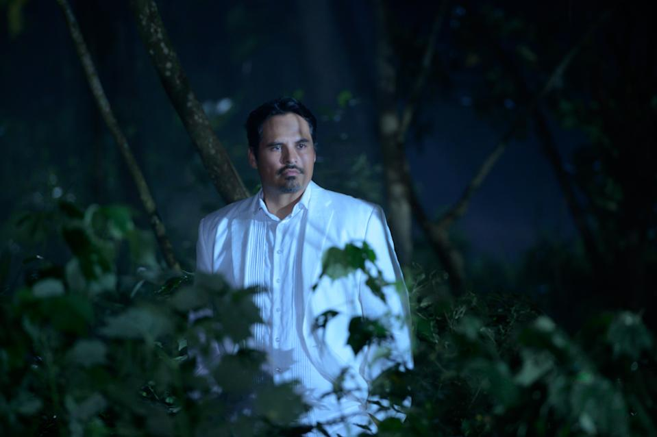 Michael Peña as Mr. Roarke in <i>Blumhouse's Fantasy Island</i>. (Sony Pictures)