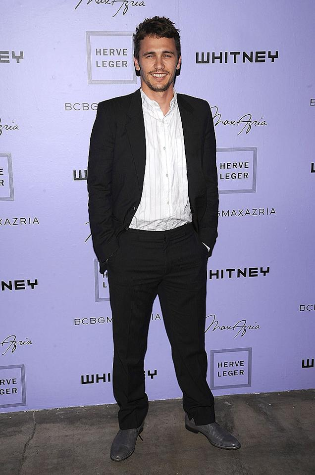 """James Franco arrives at the Whitney Museum's Art Party and auction at Skylight in NYC. The """"Spider-man"""" star is a member of the Whitney Contemporaries, a group of art patrons between the ages of 21-40, who hosted the annual soiree. Dimitrios Kambouris/<a href=""""http://www.wireimage.com"""" target=""""new"""">WireImage.com</a> - June 17, 2008"""