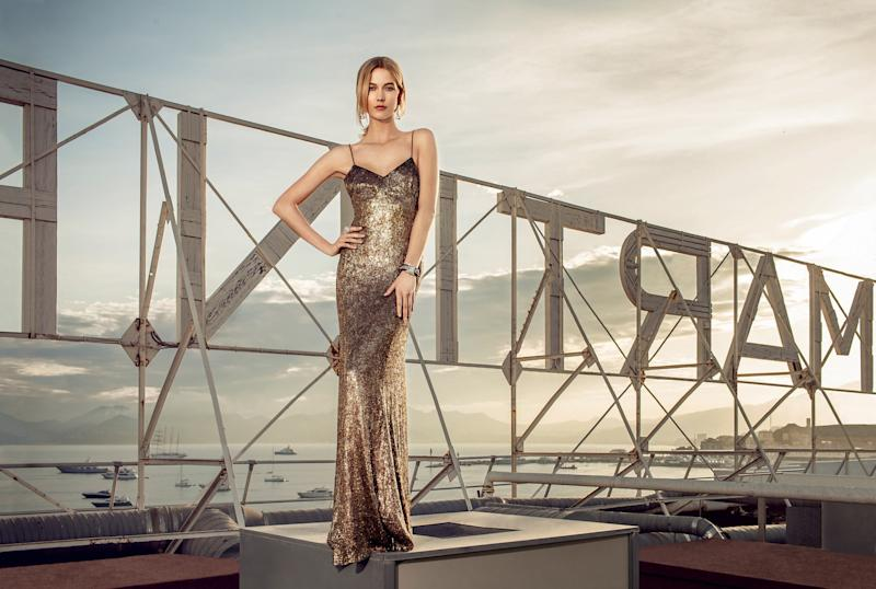 Photographed by Mattieu Salvaing on the rooftop of the Grand Hyatt Cannes Hotel Martinez wearing a de Grisogono Allegra