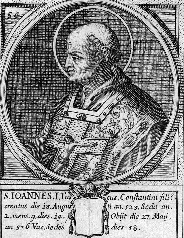 Circa 520 AD, John I, the Pope between 523 - 526. (Photo by Hulton Archive/Getty Images)