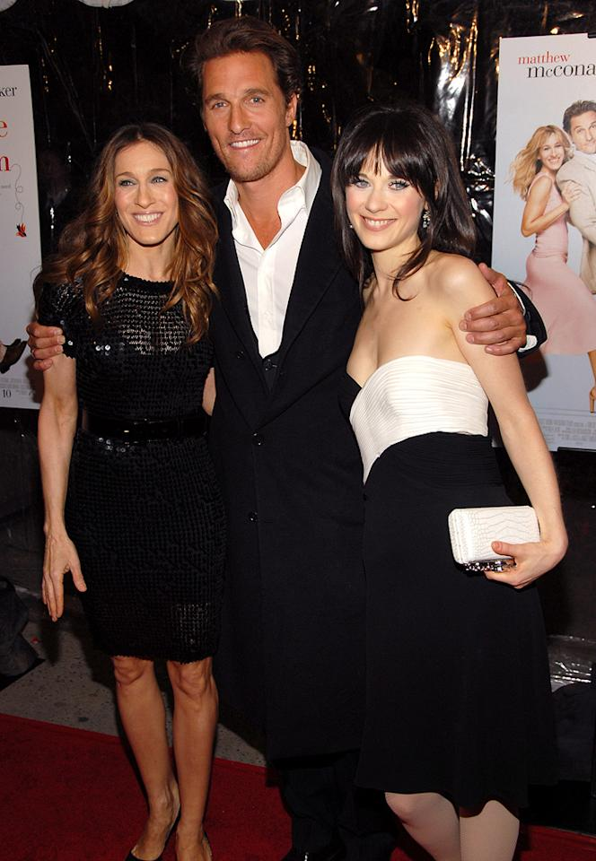 "<a href=""http://movies.yahoo.com/movie/contributor/1800016083"">Sarah Jessica Parker</a>, <a href=""http://movies.yahoo.com/movie/contributor/1800018907"">Matthew McConaughey</a> and <a href=""http://movies.yahoo.com/movie/contributor/1800019171"">Zooey Deschanel</a> at the New York premiere of <a href=""http://movies.yahoo.com/movie/1808722048/info"">Failure to Launch</a> - 03/08/2006"