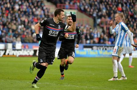 Soccer Football - Premier League - Huddersfield Town vs Crystal Palace - John Smith's Stadium, Huddersfield, Britain - March 17, 2018   Crystal Palace's Luka Milivojevic celebrates scoring their second goal from the penalty spot     REUTERS/Peter Powell