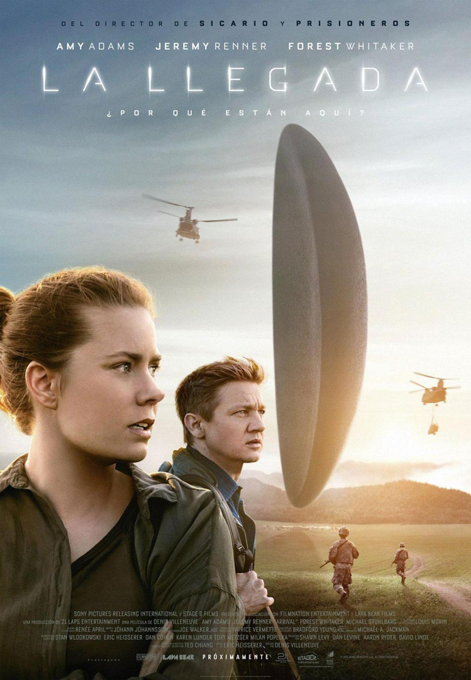 <p>Here's the second marketing fail from 'Arrival'. The main UK posters for this sci-fi stunner were simple and stylish but this Spanish poster has airbrushed Amy Adams and the handsomely craggy Jeremy Renner within an inch of their lives. (Credit: IMP Awards) </p>