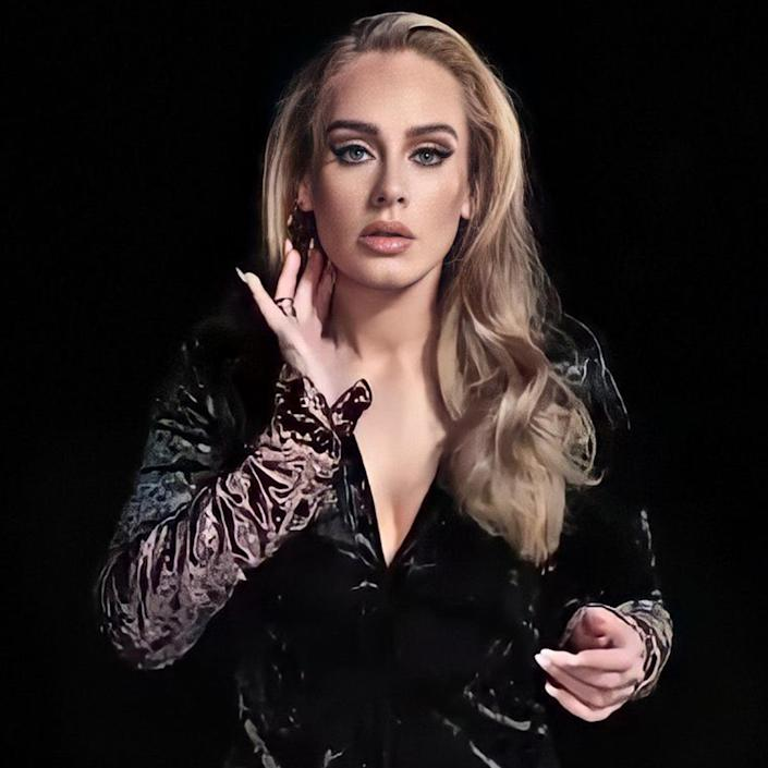 Adele in a promo for her hosting gig on