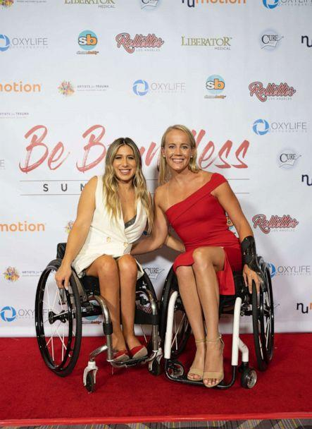 PHOTO: Chelsie Hill with Mallory Weggemann, 2012 London Paralympic Gold Medalist, at Rollettes Experience, August, 2019. (The Rollettes)