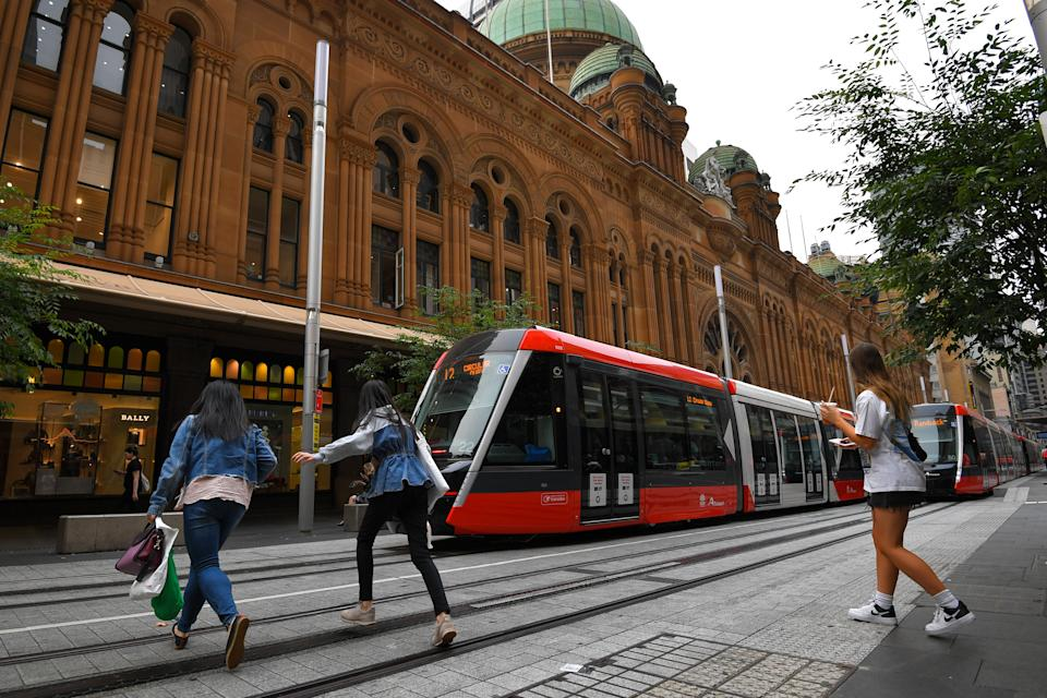 Police are cracking down on pedestrians incorrectly crossing the light rail tracks following a series of warnings. Source: AAP