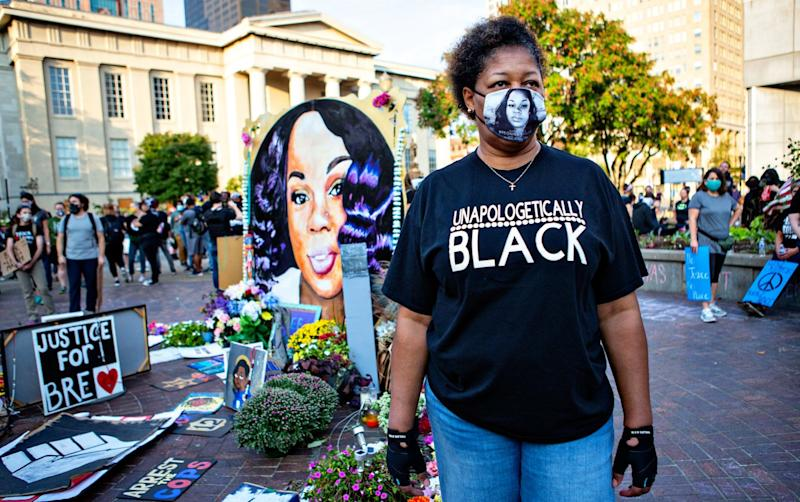 Felicia Garr at a protest in honor of Breonna Taylor.