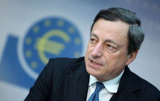 "European Central Bank head Mario Draghi insisted the embattled euro was ""irreversible"" while the ECB was ready to intervene on the markets to force down bloc borrowing costs if need be"