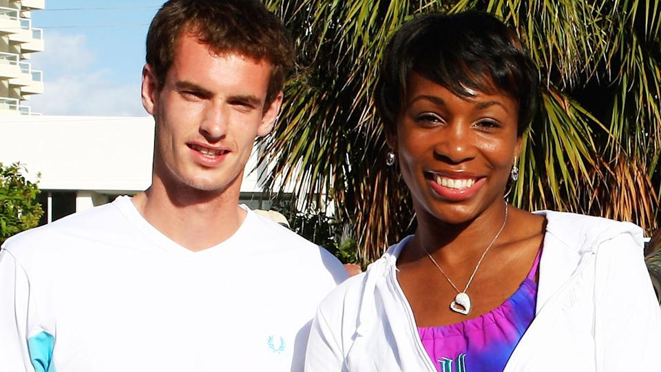 Andy Murray and Venus Williams, pictured here at the Sony Ericsson Open in 2009.