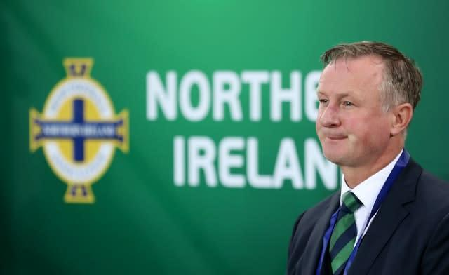 Michael O'Neill had intended to take charge of the Euro 2020 qualifying play-offs until they were delayed (Liam McBurney/PA)