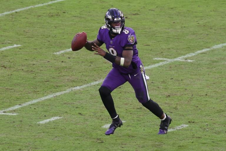 Baltimore's Lamar Jackson threw for two touchdowns and ran for 80 yards to spark the Ravens over the New York Giants in a 27-13 NFL victory Sunday