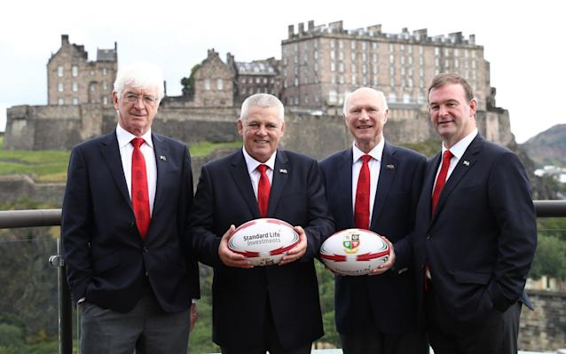 Tom Grace (left), chairman of the British and Irish Lions - Getty Images