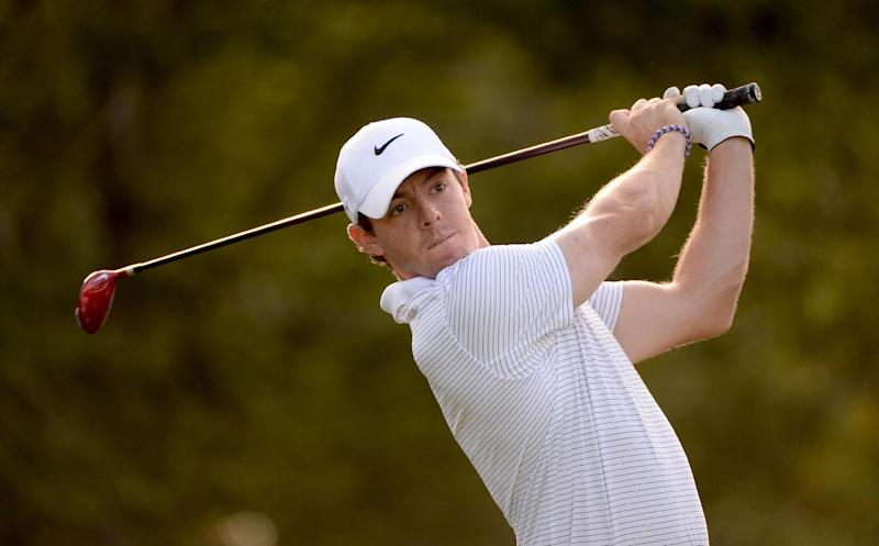Rory McIlroy during the pro-am event prior to the Deutsche Bank Championship in Norton, Massachusetts on August 28, 2014 (AFP Photo/Ross Kinnaird)